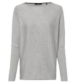Pullover Batwing 12gge, stone grey