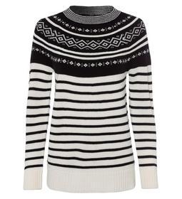 Pullover, b/w norwegan + stripe sty le, offwhite