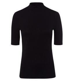 T-Shirt Melange Rib Round neck 1/2 Sl - 6002/black