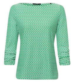T-Shirt Wavy Jaquard Round Neck 7/8 - 70027/bright