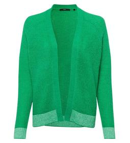 Cardigan, open style, rib detail