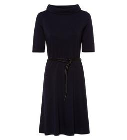 Dress Punto flared stand-up collar