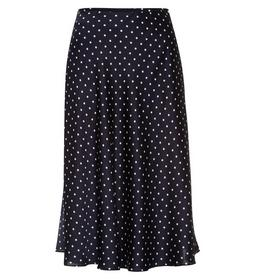 Skirt sateen midi with print - 5402/blue black