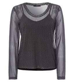 T-Shirt mesh blouse style v-neck mi