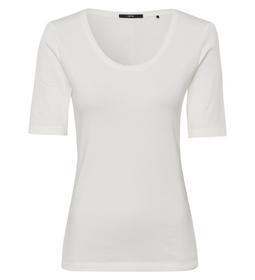 T-Shirt 1x1 rib Piping At Neckline