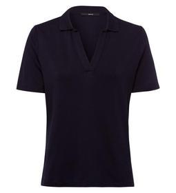 T-Shirt polo collar 1/4 sl. - 5402/blue black