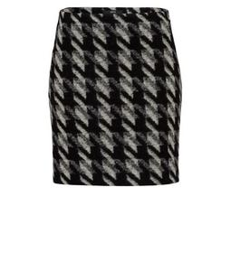 Skirt short wool optic