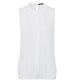 Blouse rd neck with collar gathered