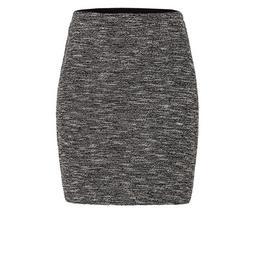 Short skirt in jersey jacquard - 6002/black