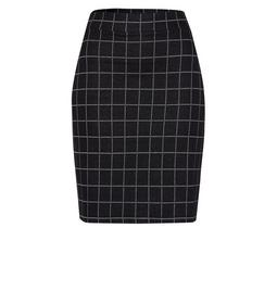 Formal Skirt jacquard jersey check de - 6002/black