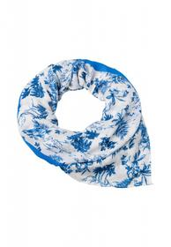 Scarf Toile de Jouy Print - 60079/fresh blue