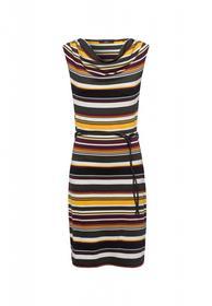 Jerseykleid mit bunten Streifen