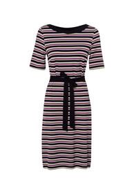 Jerseykleid gestreift mit Gürtel