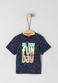 T-SHIRT KURZARM - 58A2/dark blue AOP