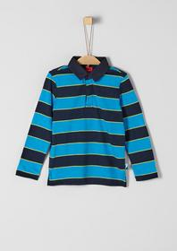 POLOSHIRT - 59G3/dark blue knittedstripes