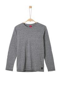 T-SHIRT LANGARM - 99W5/grey/black melange