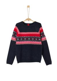 PULLOVER LANGARM - 59X3/dark blue knit