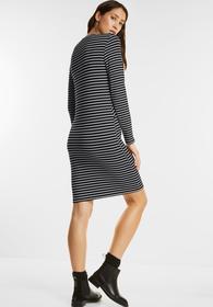 Schwarz-Weißes Jerseykleid