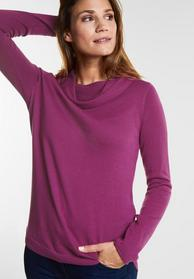 Pullover with big collar - 11440/fuchsia pink