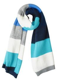 Cozy Stripe Scarf, peppermint blue