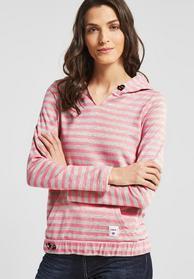 Sweatshirt mit Streifenprint