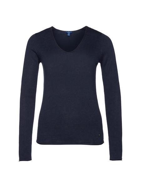 Damen-Basic-Pullover mit V-Ausschnitt