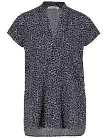 BLUSE 1/2 ARM BASIC FIT - 08099/BLAU/ECRU/WEISS DR