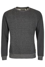 Sweatshirt mit Heringbone-Struktur GRAU
