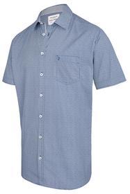 Kurzarmhemd aus 100% Baumwolle BLAU