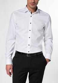 ETERNA LANGARM HEMD SLIM FIT STRETCH WEISS UNIFARBEN
