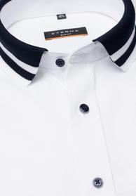 ETERNA LANGARM HEMD SLIM FIT OXFORD WEISS UNIFARBEN