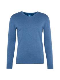 Basic Herren-Pullover mit V-Ausschnitt