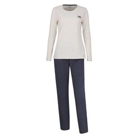 TOM TAILOR Damen Pyjama gepunktet 1er Pack