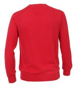Pullover mit V-Ausschnitt unifarben 004130