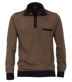 CasaModa Sweat-Shirt Troyer gemustert4