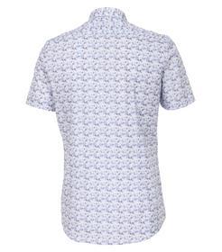 Venti Hemd Body Fit Größe 41 - helles Himmelblau - mit modischem Druck