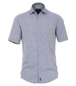 Doppelgewebe Hemd Halbarm mit modischem Druck