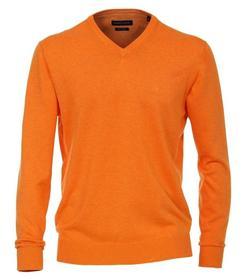 Pullover mit V-Ausschnitt unifarben 004430