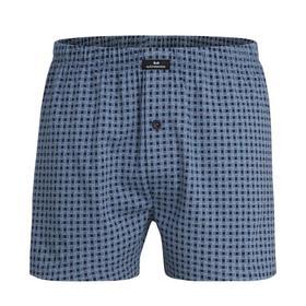 Jersey Boxer Shorts, blau-mittel-Allover