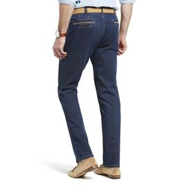 Chicago Two-Tone Denim, super-stretch medium-blue-stone