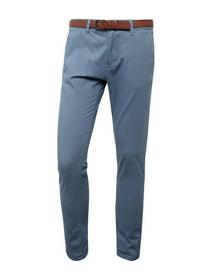 Skinny Chino solid with belt P - 6714/china blue