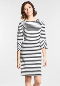 Streifen Kleid mit Volants