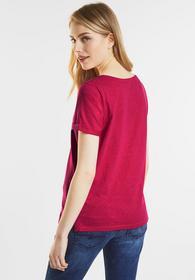 Shirt mit Print und Glitzer