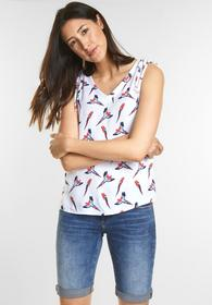 Feminines Vogelprint Top