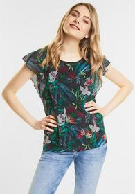 Flowerprint Volant Shirt