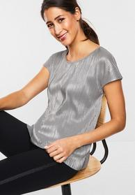 Schimmerndes Plissee-Shirt
