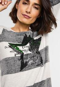 Shirt mit Pailletten Nevia