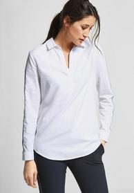 Baumwoll Bluse mit Streifen
