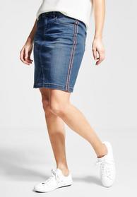 Denim-Skirt. gallon detail