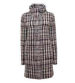 Jacke mit Stehkragen, Wolle kariert , Made in Europe